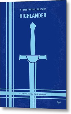 No034 My Highlander Minimal Movie Poster.jpg Metal Print by Chungkong Art