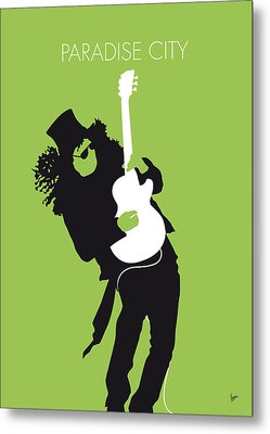 No036 My Guns And Roses Minimal Music Poster Metal Print