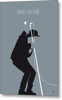 No037 My Tom Waits Minimal Music Poster Metal Print by Chungkong Art