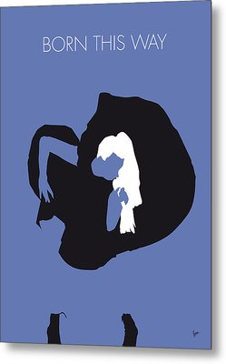 No038 My Lady Gaga Minimal Music Poster Metal Print