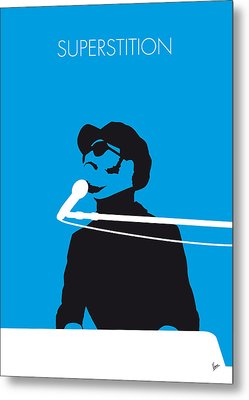 No039 My Stevie Wonder Minimal Music Poster Metal Print by Chungkong Art