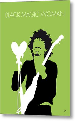 No046 My Santana Minimal Music Poster Metal Print by Chungkong Art