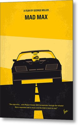 No051 My Mad Max Minimal Movie Poster Metal Print