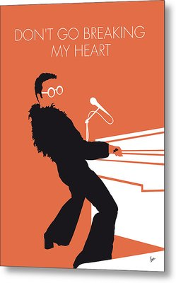 No053 My Elton John Minimal Music Poster Metal Print by Chungkong Art