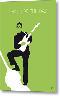 No056 My Buddy Holly Minimal Music Poster Metal Print