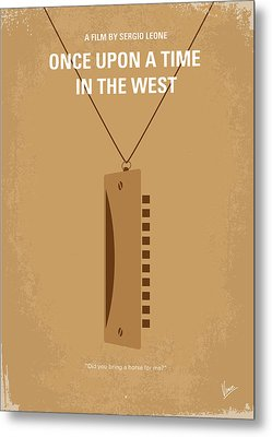No059 My Once Upon A Time In The West Minimal Movie Poster Metal Print