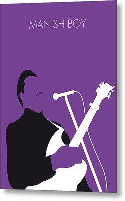 No061 My Muddy Waters Minimal Music Poster Metal Print