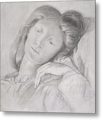 Elizabeth Siddal, Circa 1860 Metal Print by Dante Gabriel Charles Rossetti