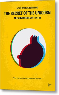 No096 My Tintin-3d Minimal Movie Poster Metal Print by Chungkong Art
