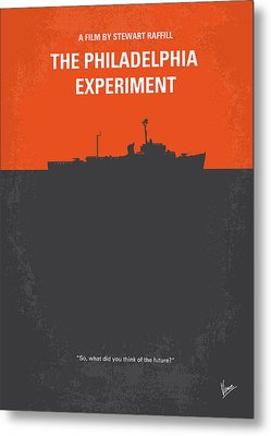 No126 My The Philadelphia Experiment Minimal Movie Poster Metal Print by Chungkong Art