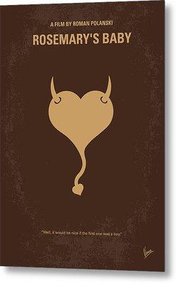 No132 My Rosemarys Baby Minimal Movie Poster Metal Print by Chungkong Art