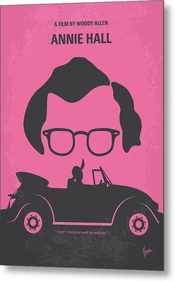 No147 My Annie Hall Minimal Movie Poster Metal Print by Chungkong Art