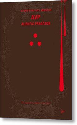 No148 My Avp Minimal Movie Poster Metal Print by Chungkong Art