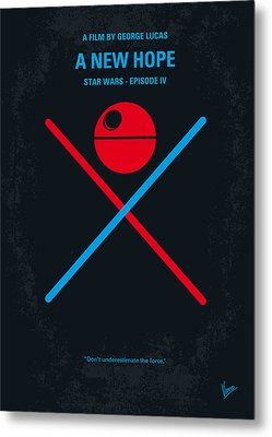 No154 My Star Wars Episode Iv A New Hope Minimal Movie Poster Metal Print by Chungkong Art