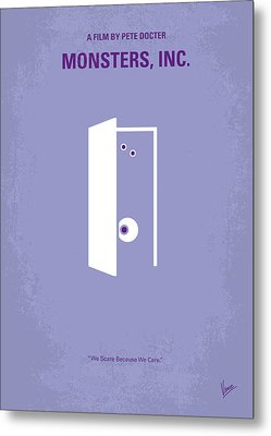 No161 My Monster Inc Minimal Movie Poster Metal Print by Chungkong Art