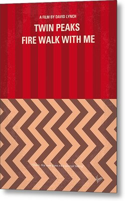 No169 My Fire Walk With Me Minimal Movie Poster Metal Print