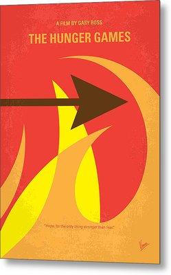 No175 My Hunger Games Minimal Movie Poster Metal Print