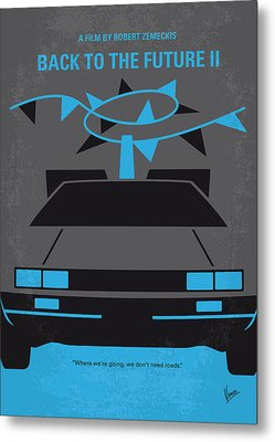 No183 My Back To The Future Minimal Movie Poster-part II Metal Print by Chungkong Art