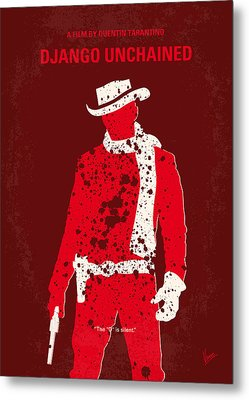 No184 My Django Unchained Minimal Movie Poster Metal Print by Chungkong Art