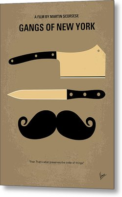 No195 My Gangs Of New York Minimal Movie Poster Metal Print by Chungkong Art