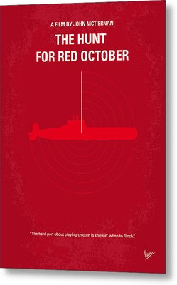 No198 My The Hunt For Red October Minimal Movie Poster Metal Print by Chungkong Art