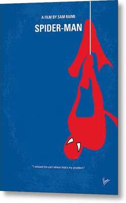 No201 My Spiderman Minimal Movie Poster Metal Print by Chungkong Art