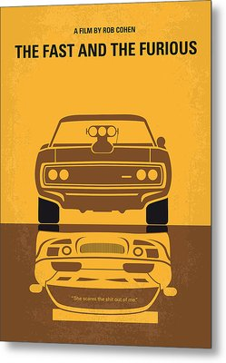 No207 My The Fast And The Furious Minimal Movie Poster Metal Print