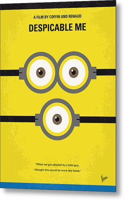 No213 My Despicable Me Minimal Movie Poster Metal Print by Chungkong Art