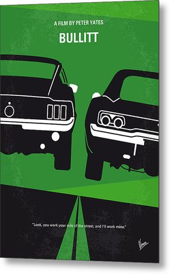 No214 My Bullitt Minimal Movie Poster Metal Print by Chungkong Art