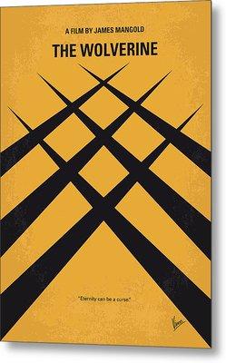 No222 My Wolverine Minimal Movie Poster Metal Print by Chungkong Art