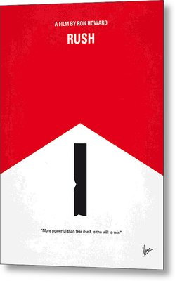 No228 My Rush Minimal Movie Poster Metal Print by Chungkong Art