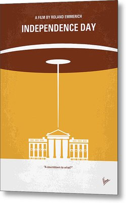 No249 My Independence Day Minimal Movie Poster Metal Print