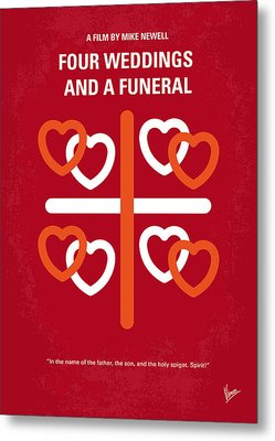 No259 My Four Weddings And A Funeral Minimal Movie Poster Metal Print by Chungkong Art