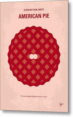 No262 My American Pie Minimal Movie Poster Metal Print by Chungkong Art