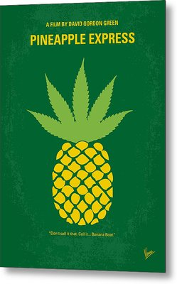 No264 My Pineapple Express Minimal Movie Poster Metal Print