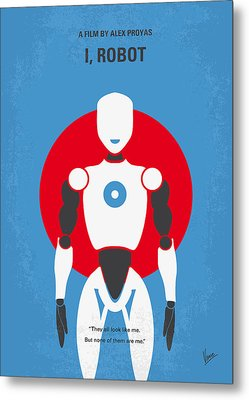 No275 My I Robot Minimal Movie Poster Metal Print by Chungkong Art
