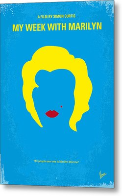 No284 My Week With Marilyn Minimal Movie Poster Metal Print by Chungkong Art
