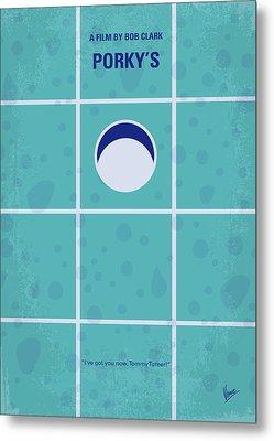 No310 My Porkys Minimal Movie Poster Metal Print by Chungkong Art