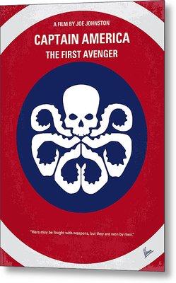 No329 My Captain America - 1 Minimal Movie Poster Metal Print by Chungkong Art