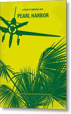 No335 My Pearl Harbor Minimal Movie Poster Metal Print by Chungkong Art
