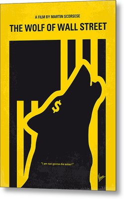 No338 My Wolf Of Wallstreet Minimal Movie Poster Metal Print