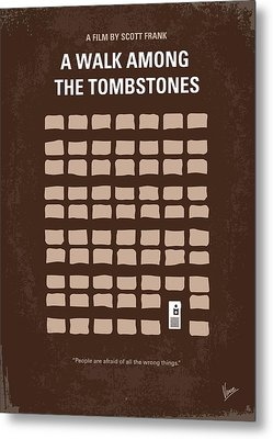 No341 My Walk Among The Tombstones Minimal Movie Poster Metal Print