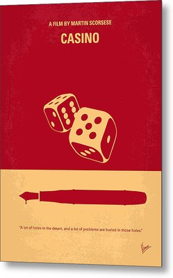 No348 My Casino Minimal Movie Poster Metal Print