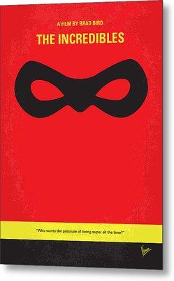 No368 My Incredibles Minimal Movie Poster Metal Print by Chungkong Art