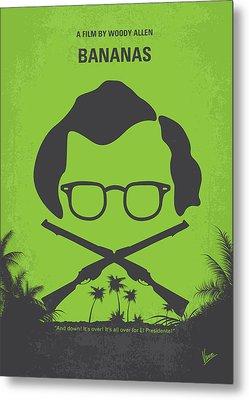 No375 My Bananas Minimal Movie Poster Metal Print