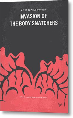 No374 My Invasion Of The Body Snatchers Minimal Movie Metal Print