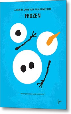 No396 My Frozen Minimal Movie Poster Metal Print