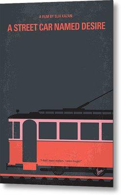 No397 My Street Car Named Desire Minimal Movie Poster Metal Print by Chungkong Art