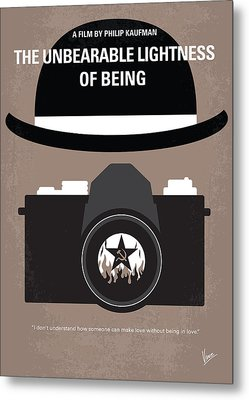No401 My The Unbearable Lightness Of Being Minimal Movie Poster Metal Print by Chungkong Art