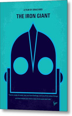 No406 My The Iron Giant Minimal Movie Poster Metal Print by Chungkong Art